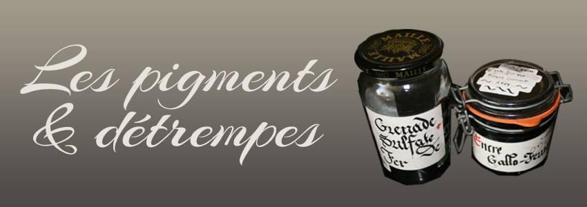 Les pigments et détrempes artisanaux pour vos couleurs
